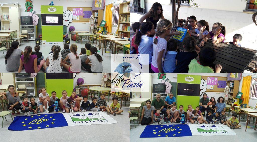 momentos de la divulgacion en CEIP El Risco (Agaete)