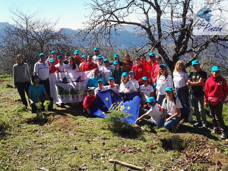 Foto de grupo Cruz Roja con Life+Pinzón