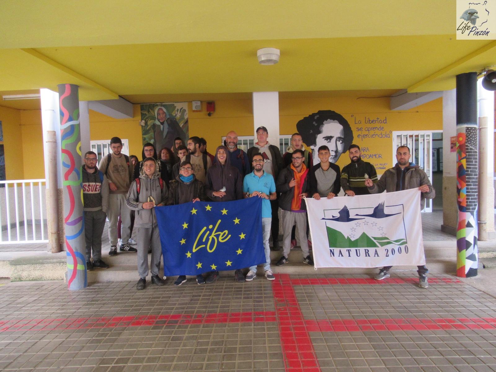 Presentación en el IES San Mateo con alumnos del Ciclo de Aprovechamiento y Conservación del Medio Natural7 noviembre 2018