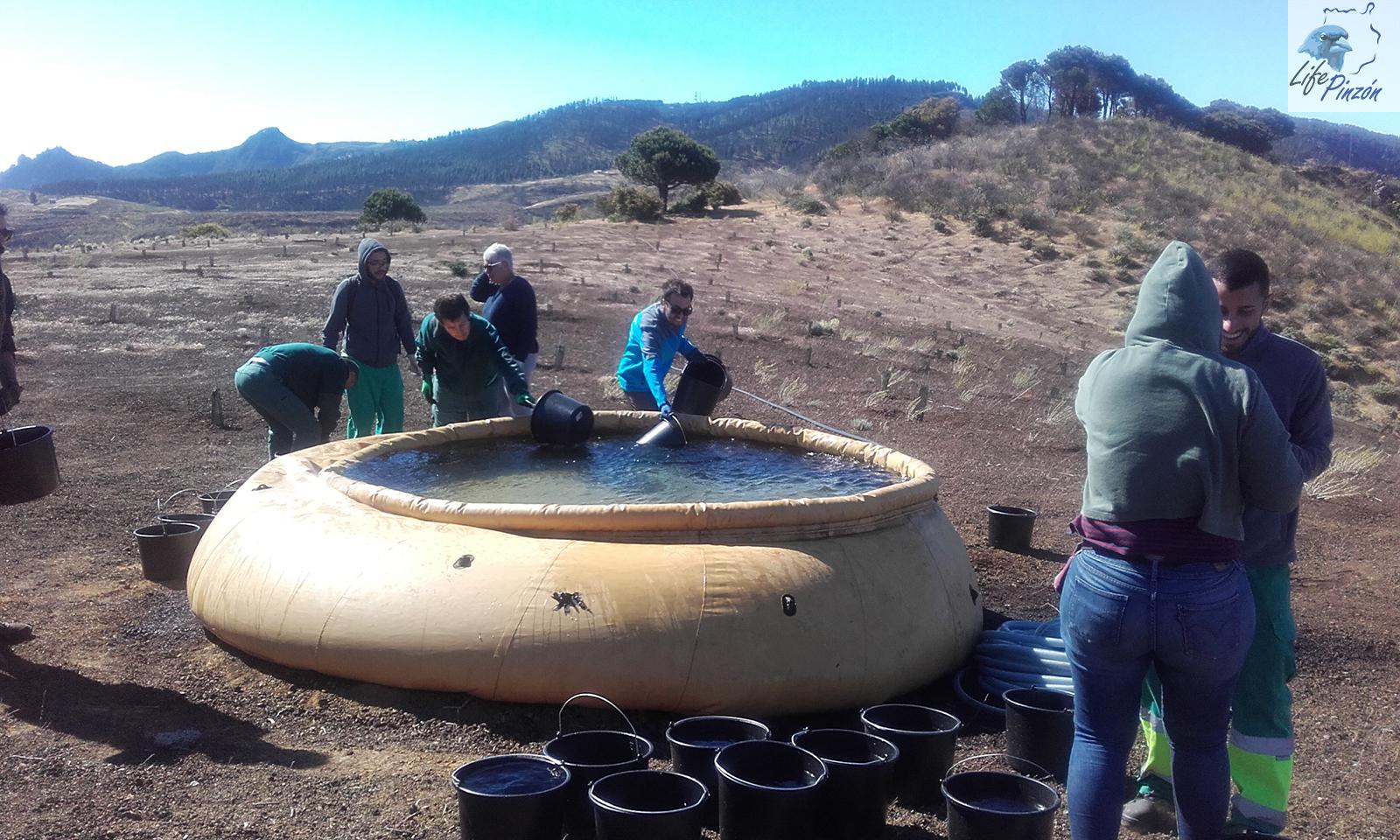 Riego de reforestaciones con el IES Felo Monzón Grau-Bassas22 Mayo 2019