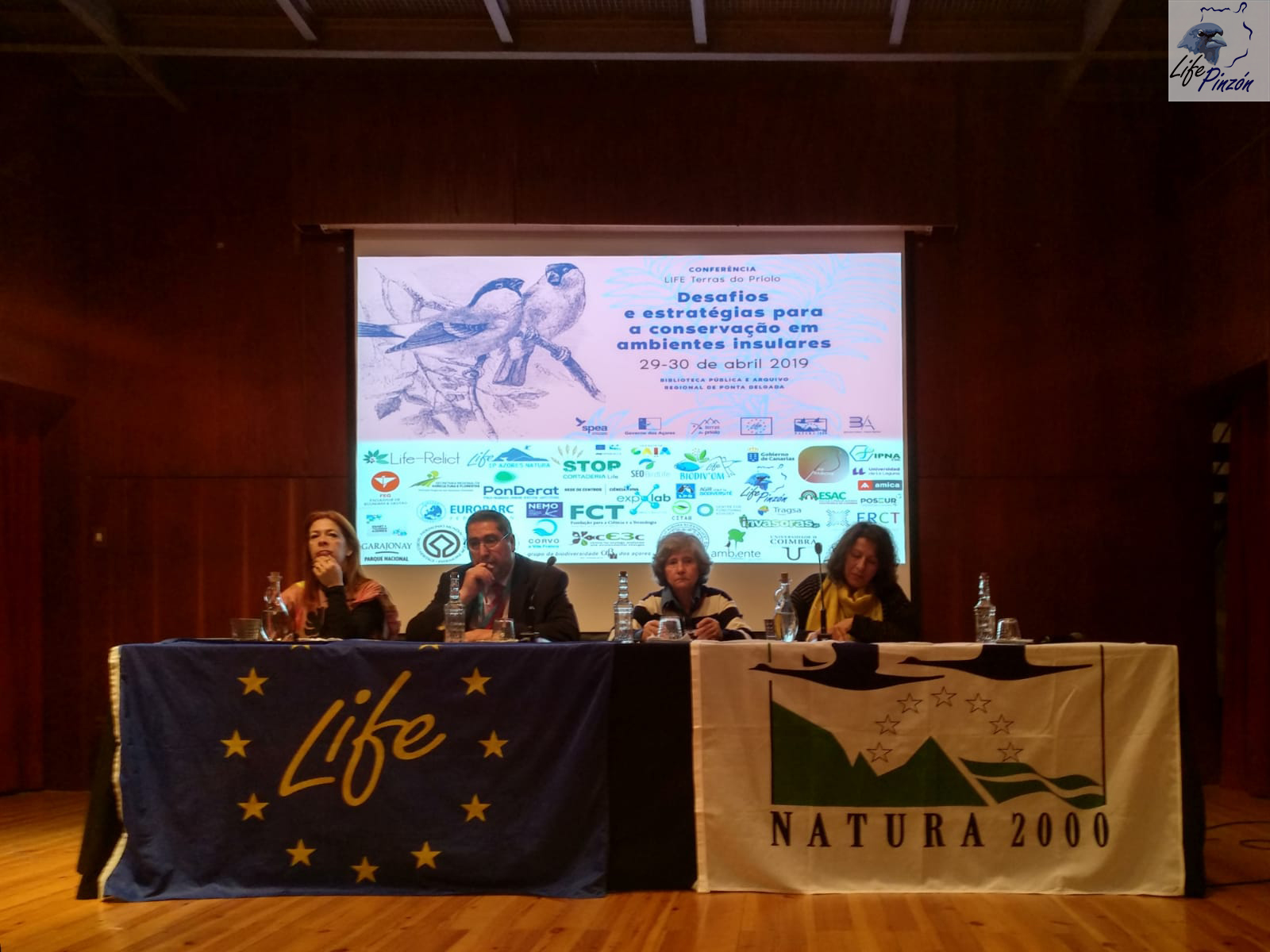 LIFE+Pinzón en la Conferencia del LIFE Terras do Priolo29 Abril – 1 Mayo 2019