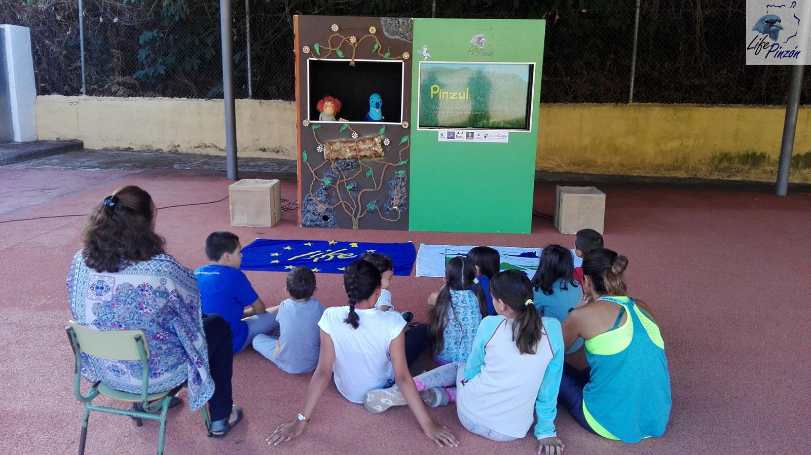 Los títeres regresan al Colegio rural CEIP Las Lagunetas (Vega de San Mateo) 3 Octubre 2019