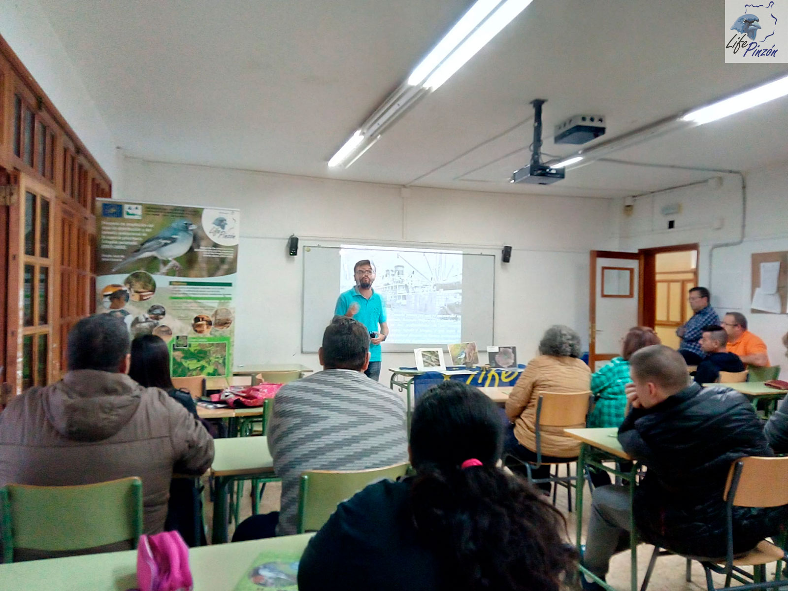 Presentación del LIFE+Pinzón en el CEPA de Teror28 Noviembre 2019