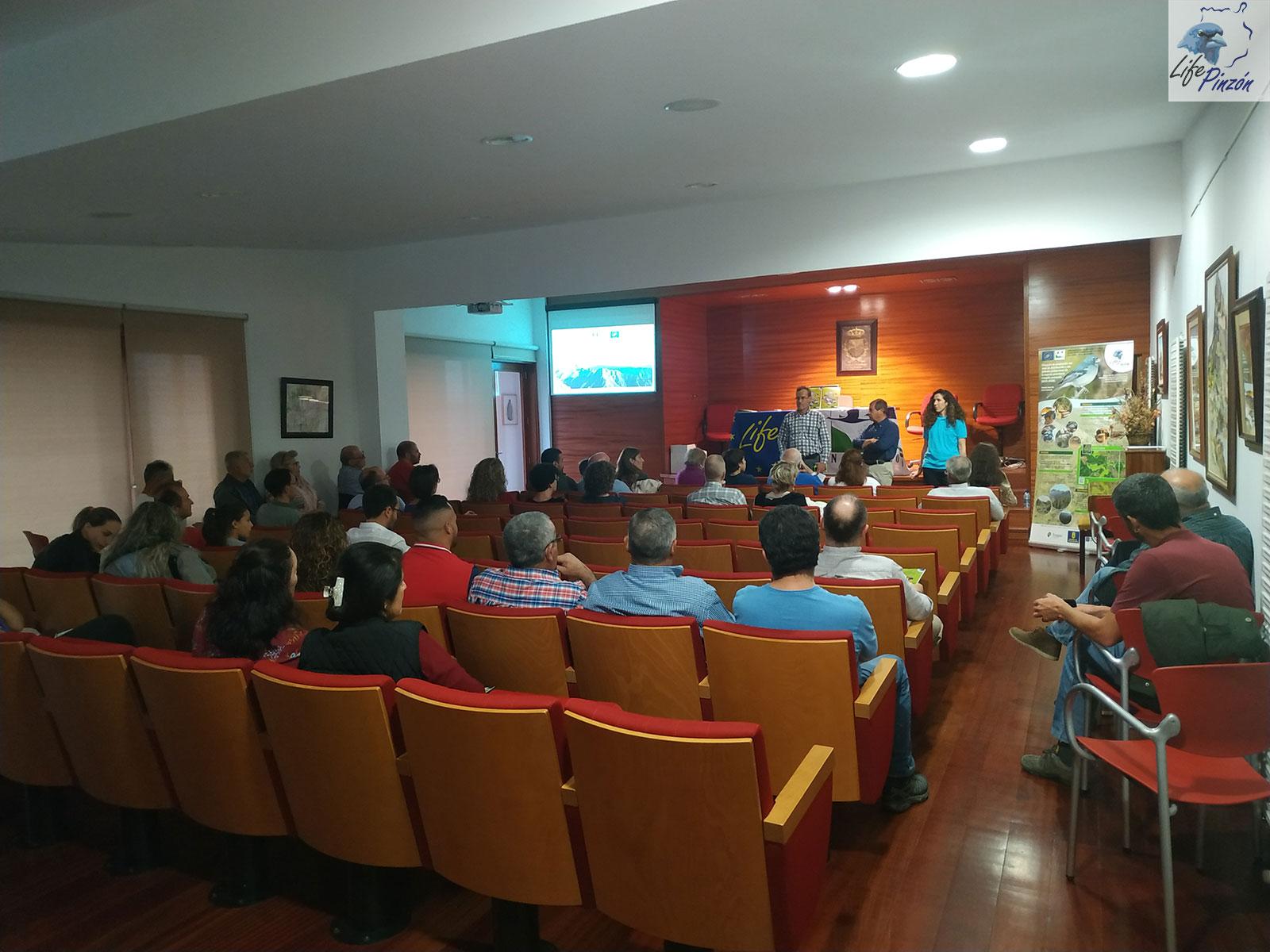 Acto de Agradecimiento a propietarios particulares en Tejeda proyecto LIFE+Pinzón14 Febrero 2020